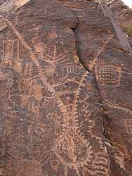 Parowan Gap Zipper Petroglyph