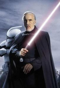 We mustn't anger Count Dooku, he's got a lightsaber